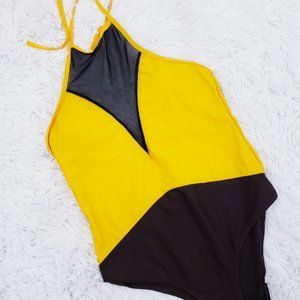 Other - One Piece Bathing Suit with sheer panel